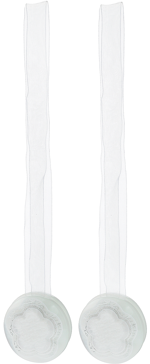 Подхват для штор TexRepublic Ajur. Lenta, на магнитах, цвет: белый, диаметр 4 см, 2 шт. 7902079020Изящный подхват для штор TexRepublic Ajur. Lenta, выполненный из пластика и текстиля, можно использовать как держатель для штор или для формирования декоративных складок на ткани. С его помощью можно зафиксировать шторы или скрепить их, придать им требуемое положение, сделать симметричные складки. Благодаря магнитам подхват легко надевается и снимается. Подхват для штор является универсальным изделием, которое превосходно подойдет для любых видов штор. Подхваты придадут шторам восхитительный,стильный внешний вид и добавят уют в интерьер помещения. Длина подхвата: 36 см. Диаметр: 4 см. Количество: 2 шт.