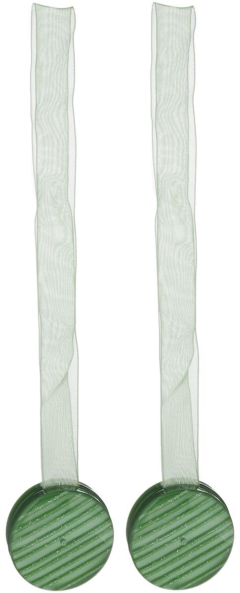 Подхват для штор TexRepublic Ajur. Lenta, на магнитах, цвет: зеленый, диаметр 4 см, 2 шт. 7901179011Изящный подхват для штор TexRepublic Ajur. Lenta, выполненный из пластика и текстиля, можно использовать как держатель для штор или для формирования декоративных складок на ткани. С его помощью можно зафиксировать шторы или скрепить их, придать им требуемое положение, сделать симметричные складки. Благодаря магнитам подхват легко надевается и снимается.Подхват для штор является универсальным изделием, которое превосходно подойдет для любых видов штор. Подхваты придадут шторам восхитительный, стильный внешний вид и добавят уют в интерьер помещения.Длина подхвата: 36 см.Диаметр: 4 см.Количество: 2 шт.