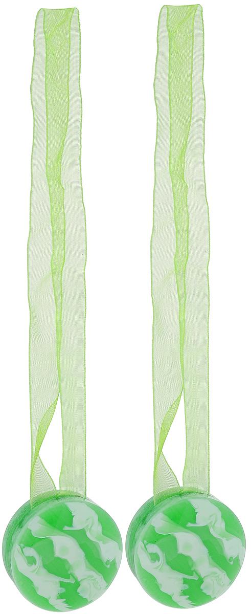 Подхват для штор TexRepublic Ajur. Lenta, на магнитах, цвет: зеленый, диаметр 4 см, 2 шт. 7901979019Изящный подхват для штор TexRepublic Ajur. Lenta, выполненный из пластика и текстиля, можно использовать как держатель для штор или для формирования декоративных складок на ткани. С его помощью можно зафиксировать шторы или скрепить их, придать им требуемое положение, сделать симметричные складки. Благодаря магнитам подхват легко надевается и снимается.Подхват для штор является универсальным изделием, которое превосходно подойдет для любых видов штор. Подхваты придадут шторам восхитительный, стильный внешний вид и добавят уют в интерьер помещения.Длина подхвата: 36 см.Диаметр: 4 см.Количество: 2 шт.