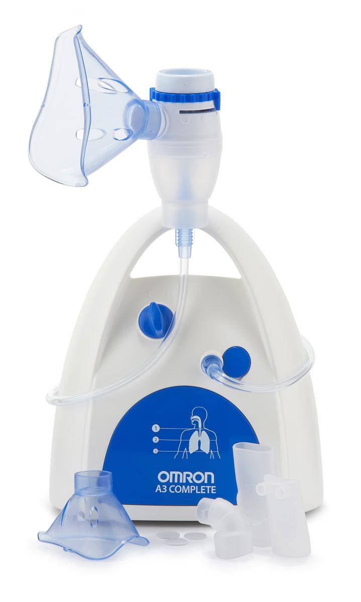 Omron NE-C300 Complete NE-C300-RU ингалятор компрессорныйУТ0000017403 режима ингаляции: быстрый лечебный эффект от верхних до нижних дыхательных путейПоложение 1 - Верхние дыхательные пути. Для ингаляционной терапии ринита, синусита, фарингита, тонзиллита, ларингитаПоложение 2 - Средние дыхательные путиПоложение 3 - нижние дыхательные пути. Для ингаляционной терапии бронхиальной астмы, ХОБЛ, бронхита, бронхиолита, бронхоэктазов, бронхопневмонииГарантия: 3 годаСоответствие европейскому стандарту EN 13544-1 Соответствие европейскому стандарту EN 13544-1Европейский стандарт prEN 13544-1 определяет основные технические характеристики небулайзеров, которые используются и профессионально, и в домашних условиях.Ручка для переноски.Работа от сети3 настройки для выбора оптимального леченияБыстрый лечебный эффект от верхних до нижних отделов дыхательных путейБыстрый и эффективный.Средний размер частиц аэрозоля: Переключатель режимов распыления в положении 1: 10 мкм; Переключатель режимов распыления в положении 2: 5 мкм; Переключатель режимов распыления в положении 3: 3 мкмОбъем резервуара для лекарственных средств: 12 млОстаточный объем лекарства: Переключатель режимов в положении 1: Прибл. 1,1 мл Переключатель режимов в положении 2: Прибл. 0,7 мл Переключатель режимов в положении 3: Прибл. 0,4 млУровень шума:65 дБВнешние размеры (ширина х глубина х высота): 130 x 215 x 190 мм (Ш x В x Г)Вес прибора:1,3 кг (только компрессор)Длина воздуховодной трубки:100 смКомплект поставки:Компрессор, небулайзерная камера, воздуховодная трубка (ПВХ, 100 см), загубник, насадка для носа, маска для взрослых (ПВХ), маска для детей (ПВХ), запасные воздушные фильтры (3 шт.), сумка для хранения, руководство по эксплуатации, гарантийный талон.