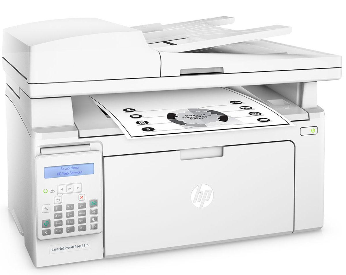 HP LaserJet Pro M132fn МФУG3Q63AОцените удобные возможности для работы с помощью самого компактного HP LaserJet Pro M132fn и картриджей с технологией JetIntelligence. Это эффективное МФУ позволяет печатать документы профессионального качества с различных мобильных устройств, сканировать и копировать материалы, использовать факсимильную связь, а также значительно экономить энергию.HP LaserJet Pro M132fn — самое компактное устройство HP в линейке LaserJet. Оно объединяет в себе возможности печати, сканирования, копирования и отправки факсов, при этом занимает совсем немного места.Вам не придется долго ждать. Печать до 22 страниц в минуту, выход первой страницы всего за 7,3 секунды. Быстрое сканирование двусторонних документов с помощью меньшего количества действий.Печать с iPhone и iPad с помощью технологии AirPrint с автоматическим подбором масштаба в соответствии с форматом бумаги.С помощью функции HP ePrint можно выполнять печать непосредственно со смартфонов, планшетов и ноутбуков. Это так же легко, как отправлять сообщения по электронной почте. Технология Google Cloud Print 2.0 позволяет отправлять задания печати напрямую со смартфона, планшета или ПК на любой принтер компании.Черный тонер обеспечивает высокую контрастность черно-белых текстов, шрифтов и графических изображений. Специальная технология контроля поможет следить за уровнем тонера и печатать максимальное количество страниц.Благодаря автоматическому снятию защитной ленты-заглушки и удобной упаковке замена картриджей не представляет сложности.Струйный или лазерный принтер: какой лучше? Статья OZON Гид