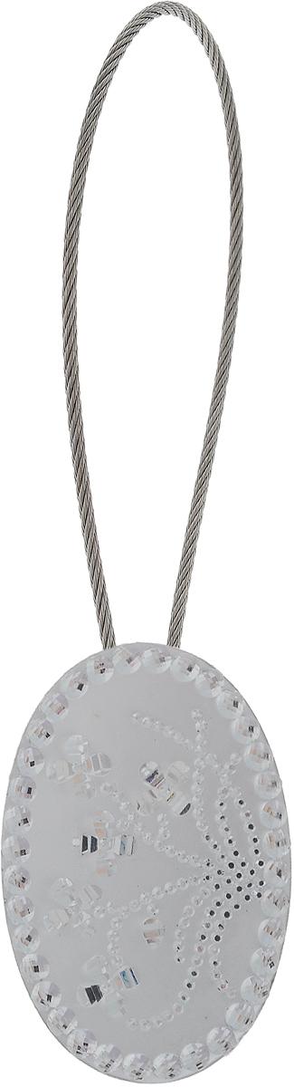 Подхват для штор TexRepublic Ajur. Tross, на магнитах, цвет: серебряный. 7899878998Изящный подхват для штор TexRepublic Ajur. Tross, выполненный из пластика и металла, можно использовать как держатель для штор или для формирования декоративных складок на ткани. С его помощью можно зафиксировать шторы или скрепить их, придать им требуемое положение, сделать симметричные складки. Благодаря магнитам подхват легко надевается и снимается.Подхват для штор является универсальным изделием, которое превосходно подойдет для любых видов штор. Подхваты придадут шторам восхитительный, стильный внешний вид и добавят уют в интерьер помещения.Длина подхвата: 20 см.Диаметр: 3,5 см.