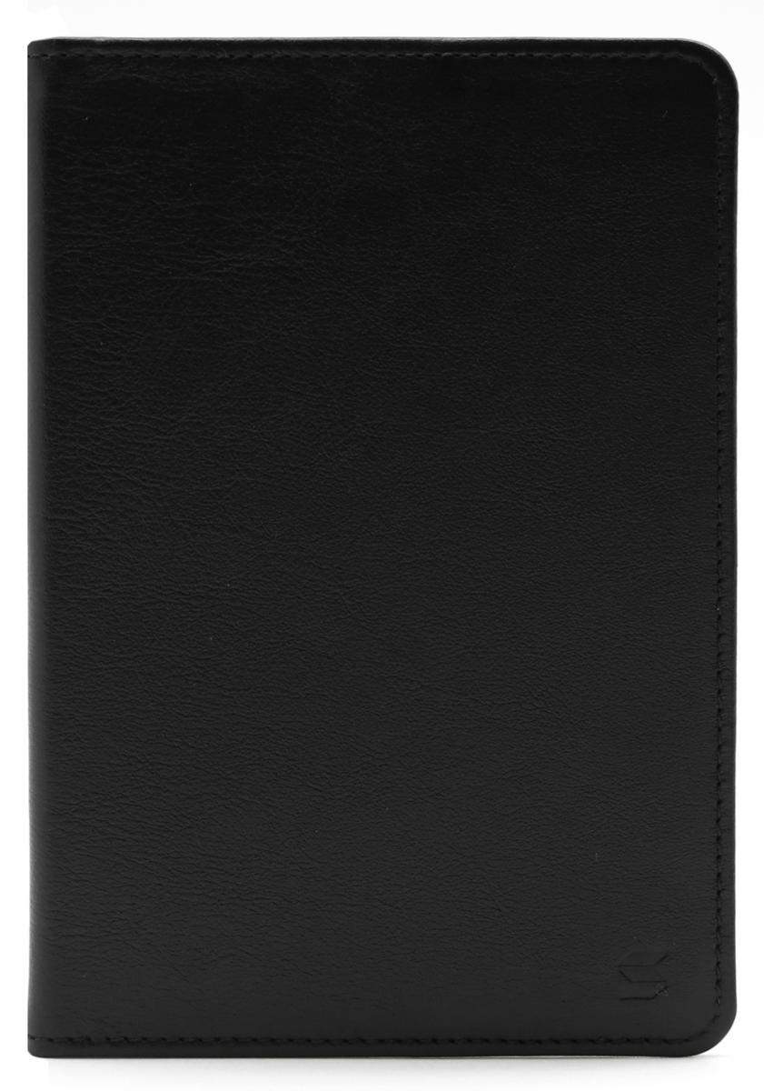 Обложка для паспорта Soltan, цвет: черный. 011 01 01