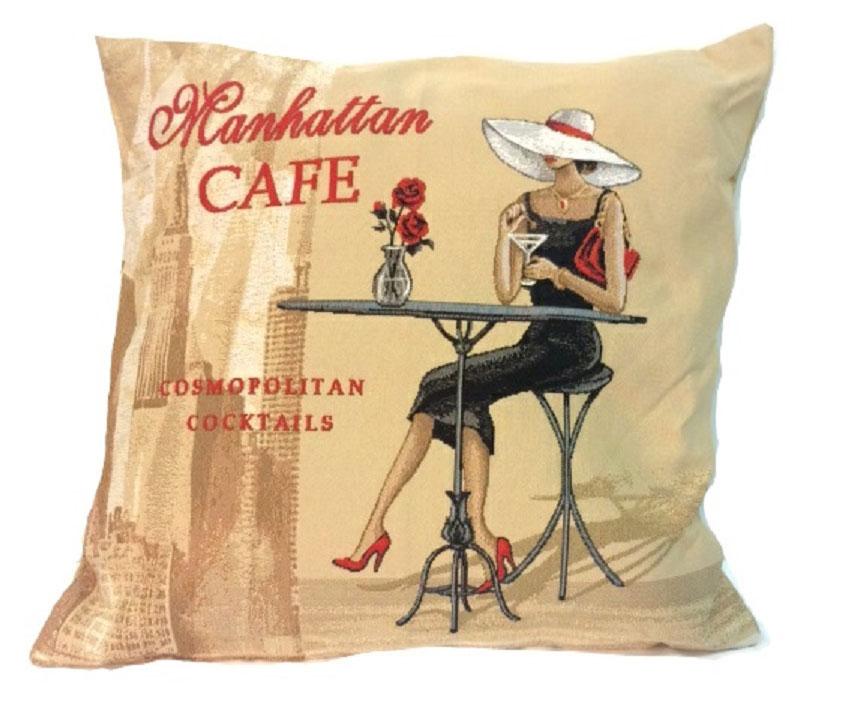 Подушка декоративная Рапира Кафе Манхэттен, 45 х 45 см