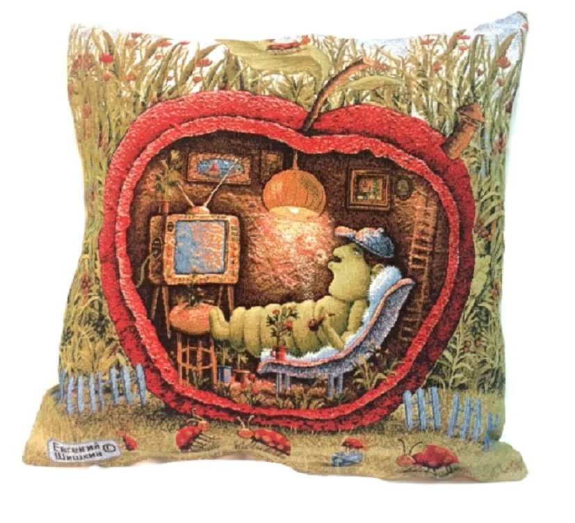 Подушка декоративная Рапира Уютное местечко, 45 х 45 см4401Декоративная подушка с наполнителем холлофайбер со съёмным чехлом намолнии, выполненным из жаккарда, - это яркий штрих в интерьере комнаты.Лицевая сторона - гобелен (жаккардовое ткачество), оборотная сторона - однотонная ткань типа плюш.