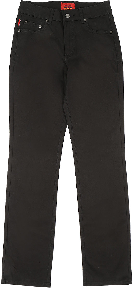 Джинсы женские Montana, цвет: черный. 10737. Размер 26-30 (44-30)10737_BlackЖенские джинсы Montana выполнены из хлопка с добавлением спандекса. Модель прямого кроя по поясу застегивается на пуговицу и имеет ширинку на застежке-молнии. На поясе предусмотрены шлевки для ремня. Спереди расположено два прорезных кармана и маленький накладной, а сзади- два накладных кармана. Джинсы оформлены логотипом бренда выложенным из страз.