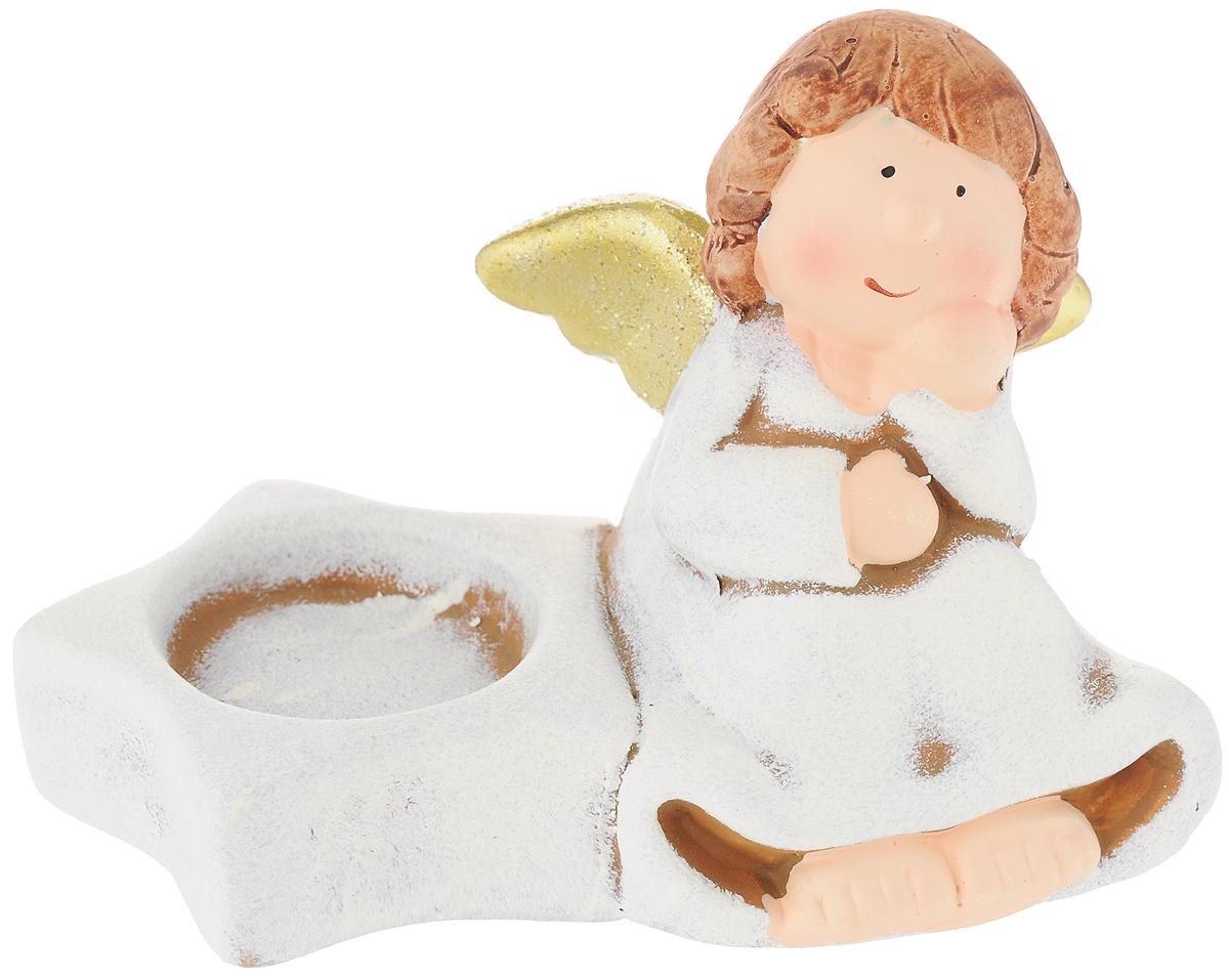 Подсвечник House & Holder Ангел, 13 х 8 х 8,7 смKK11451YПодсвечник House & Holder Ангел, изготовленный из керамики, станет прекрасным украшением интерьера помещения. Подсвечник украшен фигуркой думающего ангела. Имеется отверстие для чайной свечи (свеча в комплект не входит).Такой подсвечник станет отличным подарком для ваших родных и друзей.