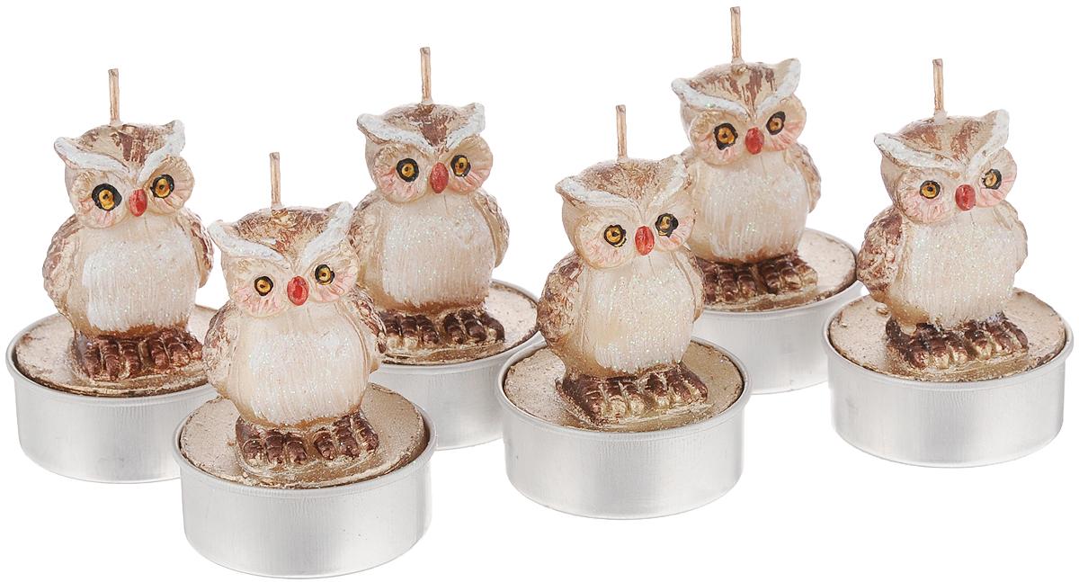 Набор свечей House & Holder Совы, высота 5,5 см, 6 шт набор свечей home queen птенчики яички 6 шт