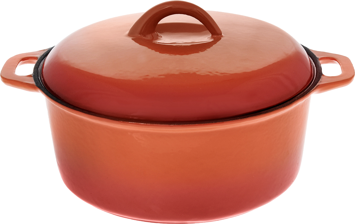Кастрюля эмалированная Myron Cook с крышкой, 3 лHE5103EКастрюля эмалированная с крышкой Myron Cook — высококачественное изделие, которое превратит процесс приготовления блюд в настоящий праздник. Кастрюля изготовлена из чугуна, отличающегося долговечностью и прочностью. Эмалированное покрытие предотвращает пригорание пищи, способствуя равномерному и плавному нагреву дна и стенок. Помимо этого, оно значительно облегчает очищение кастрюли.Кастрюля идеально подойдет для приготовления самых различных блюд. Пища в ней сохранит свой неповторимый вкус, аромат и сочность. Чугунная крышка формирует в емкости оптимальную температуру для равномерного и быстрого приготовления продуктов. Надежные рукоятки также выполнены из чугуна. Кастрюля представлена в яркой солнечной расцветке, благодаря чему она станет настоящим украшением кухни.Подходит для газовых, электрических, стеклокерамических и индукционных плит. Можно мыть в посудомоечной машине. Размер кастрюли (без учета крышки): 30 х 24,5 х 10 см.