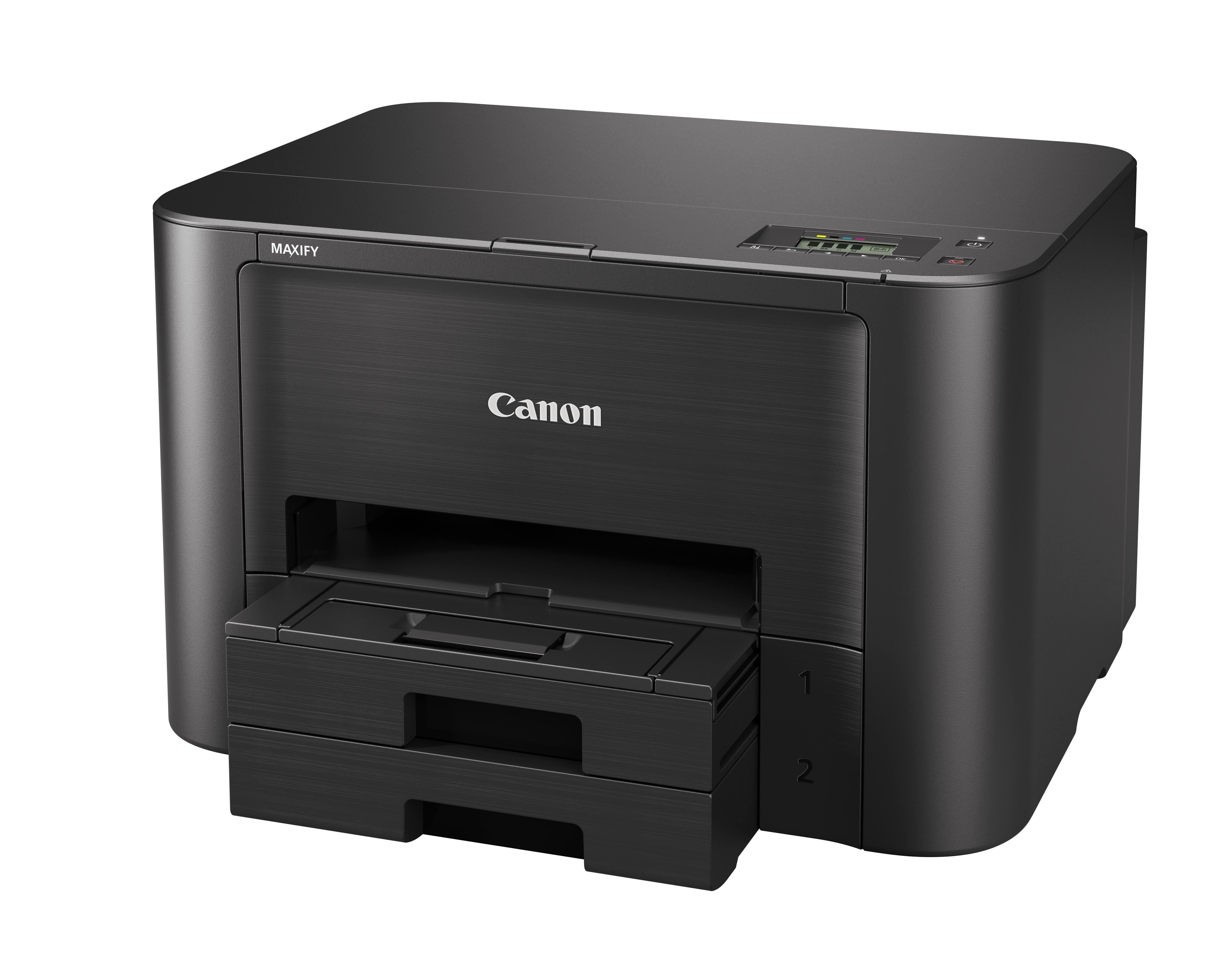 Canon Maxify iB4140 (0972C007) принтер струйный0972C007Canon Maxify iB4140 создан для гарантии высокой производительности, эффективности и надежности работы. Быстрая печать 24 изображения в минуту в монохромном режиме и 15,5 изображений в минуту в цветном режиме, увеличеный ресурс картриджа до 2500 страниц, низкие эксплуатационные расходы и поддержка Wi-Fi соединения — идеальный вариант для небольших офисных пространств.Цветной струйный принтер, который обеспечит высокую скорость и экономичность работы, даже при больших объемах печати, в любом небольшом офисном пространстве. Устройство Canon Maxify iB4140, оснащенное кассетой для бумаги повышенной емкости (на 500 листов), обеспечивает исключительные результаты печати с яркой цветопередачей и высокой четкостью текста за счет использования чернил DRHD, устойчивых к стиранию и маркерам.От низкого энергопотребления до чернильных картриджей с увеличенным ресурсом и цветных картриджей с возможностью индивидуальной замены — устройство Canon Maxify iB4140 создано для сокращения эксплуатационных расходов. Черные картриджи имеют ресурс 2500 страниц в соответствии со стандартом ISO, а цветные картриджи — 1500 страниц, позволяя непрерывно вести офисную работу без необходимости постоянной замены картриджей. Кроме того, еще больше сэкономить на печати поможет дополнительно приобретаемый 4-цветный экономичный набор.Canon Maxify iB4140 позволяет эффективно выполнять задания. Двусторонняя печать и поддержка различных форматов и типов бумаги — от обычной бумаги формата A4 до этикеток, конвертов, фотобумаги — упрощает выполнение общих заданий офисной печати. Благодаря большому разнообразию простых в использовании функций устройство Canon Maxify iB4140 обеспечивает все параметры печати, необходимые для выполнения стандартных офисных задач.Поддержка сервисов Виртуальный принтер Google, Apple AirPrint (iOS), Mopria и приложения Canon PRINT обеспечивает высокую скорость и удобство печати с мобильных устройств. Вы даже можете выполнять печ