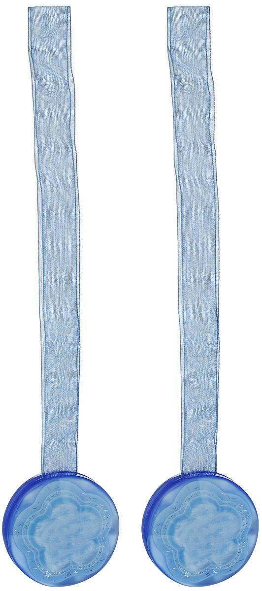 Подхват для штор TexRepublic Ajur. Lenta, на магнитах, цвет: синий, диаметр 4 см, 2 шт. 7902279022Изящный подхват для штор TexRepublic Ajur. Lenta, выполненный из пластика и текстиля, можно использовать как держатель для штор или для формирования декоративных складок на ткани. С его помощью можно зафиксировать шторы или скрепить их, придать им требуемое положение, сделать симметричные складки. Благодаря магнитам подхват легко надевается и снимается.Подхват для штор является универсальным изделием, которое превосходно подойдет для любых видов штор. Подхваты придадут шторам восхитительный, стильный внешний вид и добавят уют в интерьер помещения.Длина подхвата: 36 см.Диаметр: 4 см.Количество: 2 шт.
