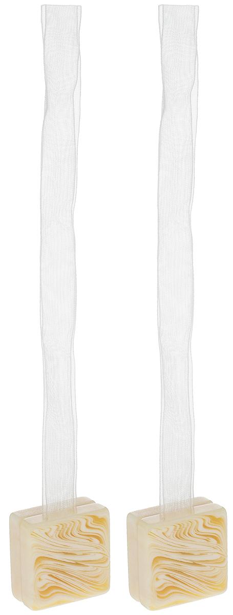 Подхват для штор TexRepublic Ajur. Lenta, на магнитах, цвет: слоновая кость, 2 шт. 7902579025Изящный подхват для штор TexRepublic Ajur. Lenta, выполненный из пластика и текстиля, можно использовать как держатель для штор или для формирования декоративных складок на ткани. С его помощью можно зафиксировать шторы или скрепить их, придать им требуемое положение, сделать симметричные складки. Благодаря магнитам подхват легко надевается и снимается.Подхват для штор является универсальным изделием, которое превосходно подойдет для любых видов штор. Подхваты придадут шторам восхитительный, стильный внешний вид и добавят уют в интерьер помещения.Длина подхвата: 37 см.Количество: 2 шт.