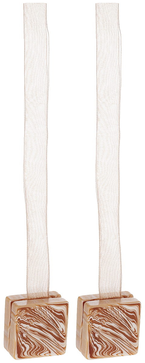 Подхват для штор TexRepublic Ajur. Lenta, на магнитах, цвет: светло-бежевый, 2 шт. 7902879028Изящный подхват для штор TexRepublic Ajur. Lenta, выполненный из пластика и текстиля, можно использовать как держатель для штор или для формирования декоративных складок на ткани. С его помощью можно зафиксировать шторы или скрепить их, придать им требуемое положение, сделать симметричные складки. Благодаря магнитам подхват легко надевается и снимается.Подхват для штор является универсальным изделием, которое превосходно подойдет для любых видов штор. Подхваты придадут шторам восхитительный, стильный внешний вид и добавят уют в интерьер помещения.Длина подхвата: 37 см.Количество: 2 шт.