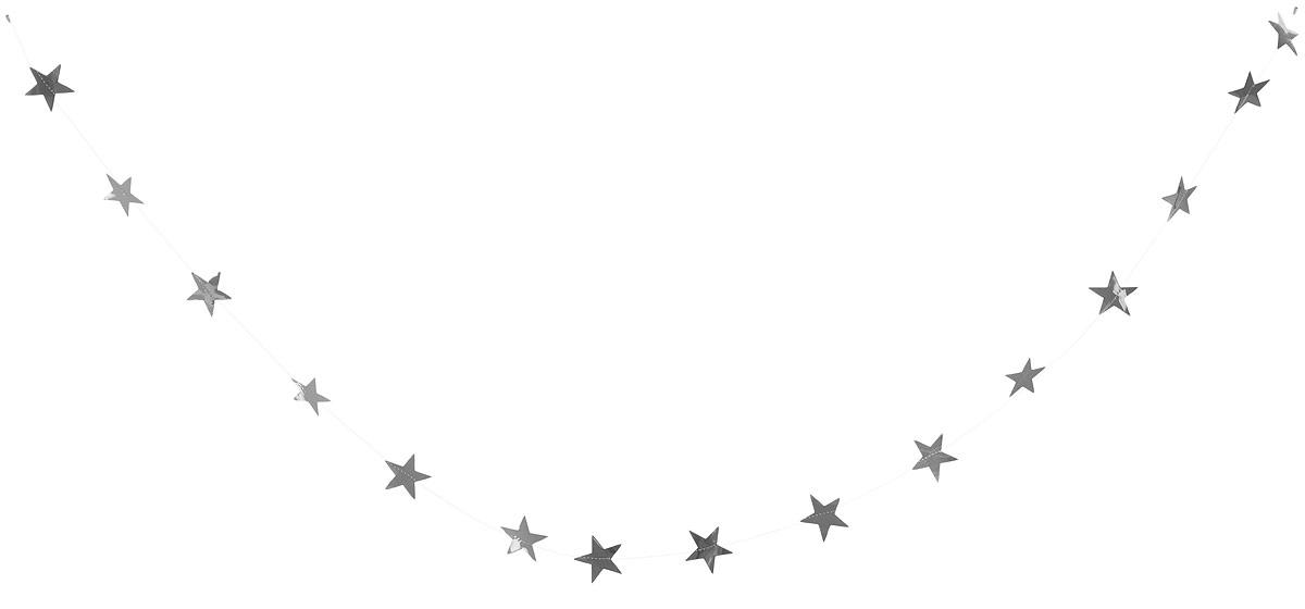 Гирлянда декоративная Winter Wings Звездочки, цвет: серебряный, 8 см х 2,7 мN09163_серебряныйНовогодняя декоративная растяжка Winter Wings Звездочки прекрасно подойдет для декора дома и праздничной елки. Украшение выполнено из ПВХ. С помощью пластиковых колец растяжку можно повесить в любом понравившемся вам месте.Новогодние украшения несут в себе волшебство и красоту праздника. Они помогут вам украсить дом к предстоящим праздникам и оживить интерьер по вашему вкусу. Создайте в доме атмосферу тепла, веселья и радости, украшая его всей семьей.