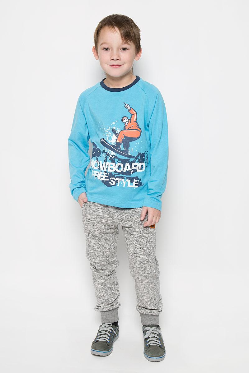 Лонгслив для мальчика Sela, цвет: голубой. T-811/1041-6415. Размер 128, 8 лет лонгслив женский sela цвет красный t 111 4479 7380 размер m 46