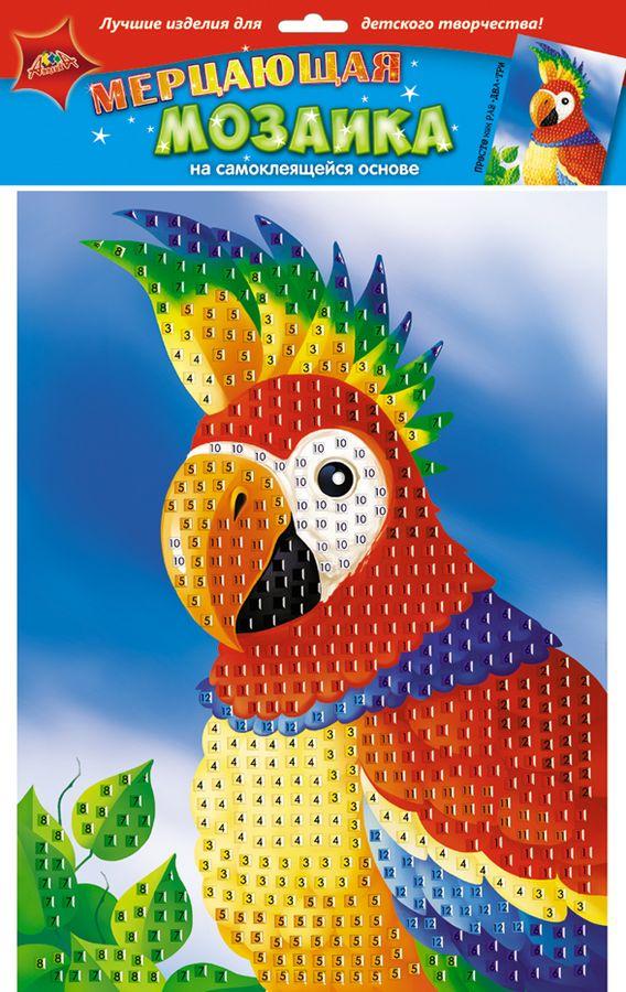 Апплика Мозаика на самоклеящейся основе Попугай апплика аппликация краб из самоклеящегося мягкого пластика