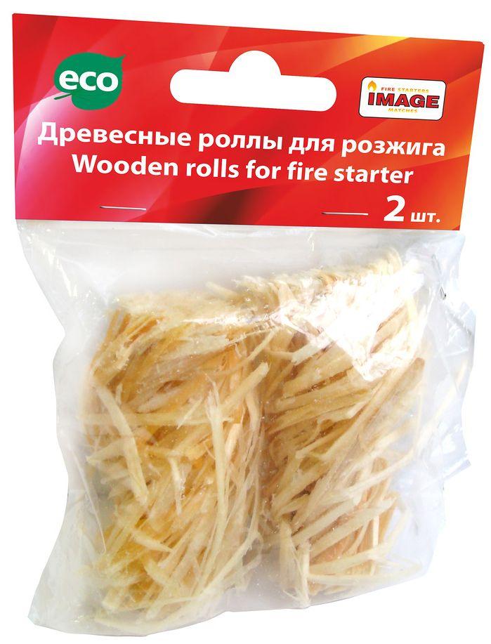 Роллы для розжига Image, 2 шт40489Роллы для розжига Image используются для разжигания каминов, шашлычниц, барбекю, топок, грилей, мангалов, для розжига огня на открытом воздухе и специально оборудованных местах. Ролл моментально разгорается за счет наличия кислорода между волокнами древесины. Пламя очень высокое, чистое, активное, без копоти и запаха.Сохраняет свои свойства после намокания. Время горения 1 шт - от 8 до 12 мин.