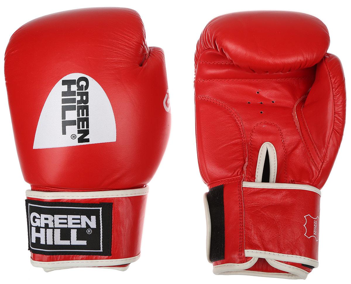 Перчатки боксерские Green Hill Gym, цвет: красный, белый. Вес 14 унцийBGG-2018Боксерские перчатки Green Hill Gym подходят для всех видов единоборств где применяют перчатки. Подойдет как для бокса, так и для кикбоксинга. Новички и профессионалы высоко ценят эту модель за универсальность. Верхняя часть перчатки выполнена из натуральной кожи, наполнитель - пенополиуретан. Перфорированная поверхность в области ладони позволяет создать максимально комфортный терморежим во время занятий. Закрепляется на руке при помощи липучки.