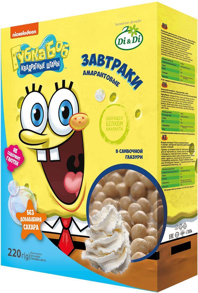 Губка Боб завтраки амарантовые в сливочной глазури, витаминизированные, 220 г