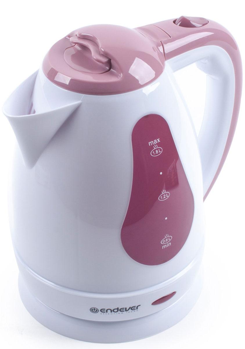 Endever Skyline KR-351 чайник электрическийKR-351Дисковый нагревательный элемент чайника Endever Skyline KR-351 обеспечивает надежность и долговечность. Эргономичная ненагревающаяся ручка оптимальна для безопасного разлива, а индикатор уровня воды позволяет контролировать количество воды в чайнике. Беспроводное соединение позволяет вращать чайник на подставке на 360°.