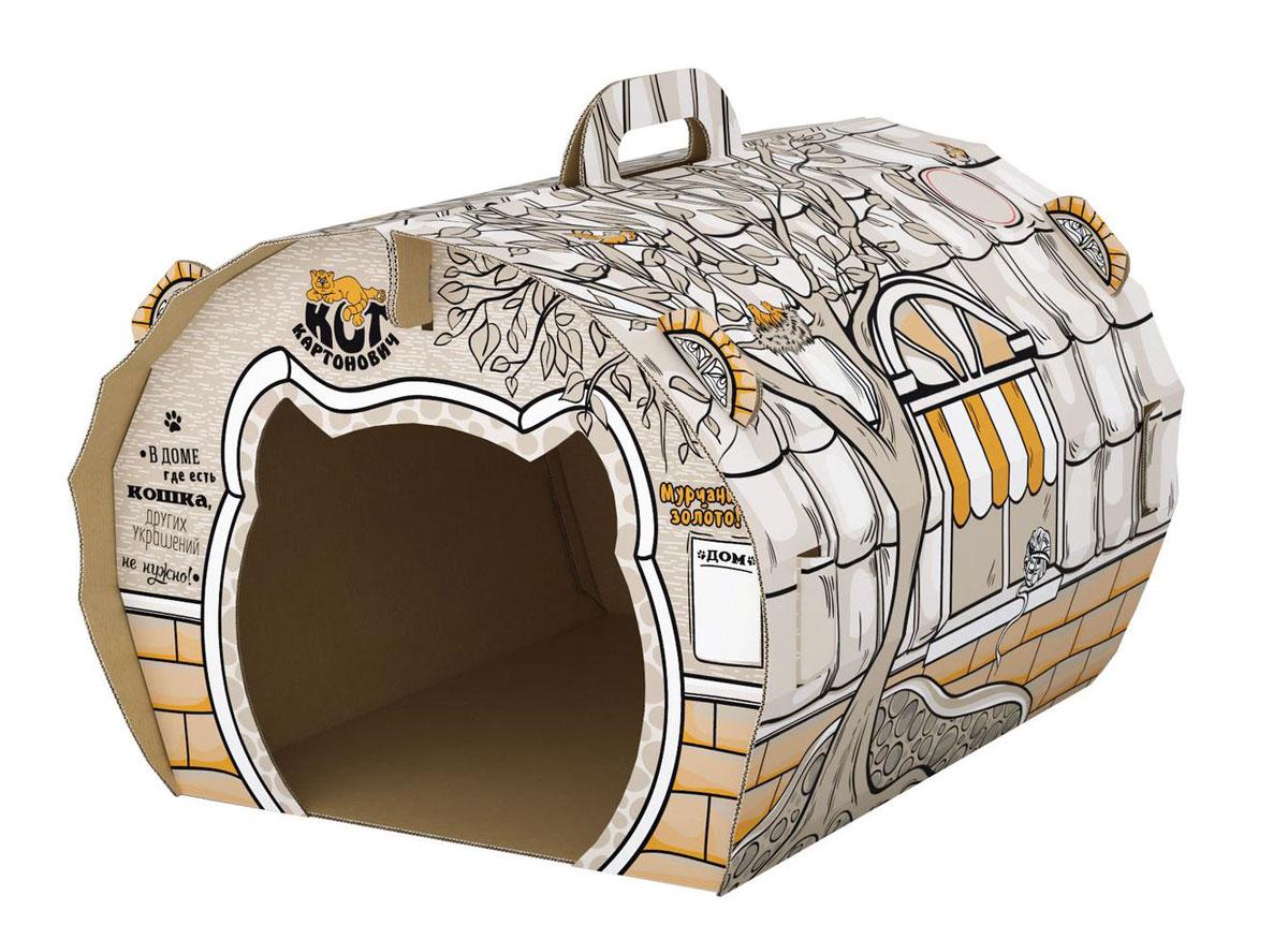 Домик для кошек Кот Картонович Лесное приключение, 42 х 34 х 31,6 см хозяин уральской тайг