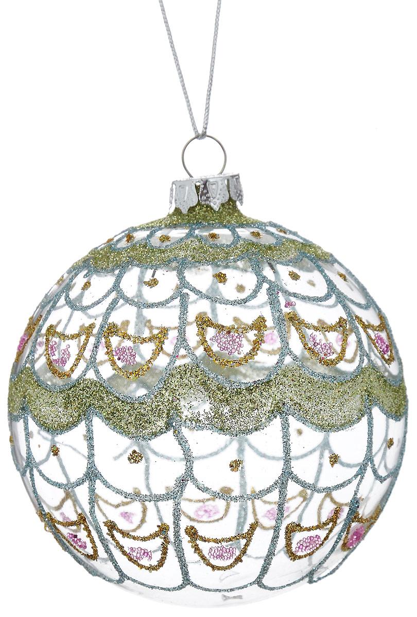 Украшение новогоднее подвесное Winter Wings Павлин, диаметр 8 смN07674Новогоднее подвесное украшение Winter Wings Павлин прекрасно подойдет для праздничного декора новогодней ели. Изделие выполнено из высококачественного стекла. Для удобного размещения на елке предусмотрена веревочка.Елочная игрушка - символ Нового года. Она несет в себе волшебство и красоту праздника. Создайте в своем доме атмосферу веселья и радости, украшая новогоднюю елку нарядными игрушками, которые будут из года в год накапливать теплоту воспоминаний. Откройте для себя удивительный мир сказок и грез. Почувствуйте волшебные минуты ожидания праздника, создайте новогоднее настроение вашим дорогим и близким.Диаметр шара: 8 см.