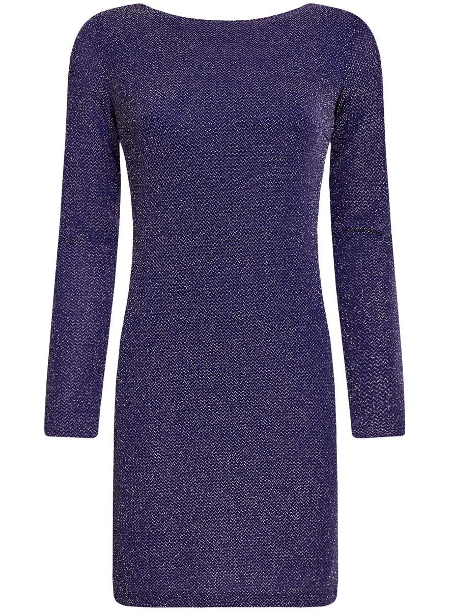 Платье oodji Ultra, цвет: синий металлик. 14000165-1/46124/7500X. Размер M (46) платье oodji oodji oo001ewtns35
