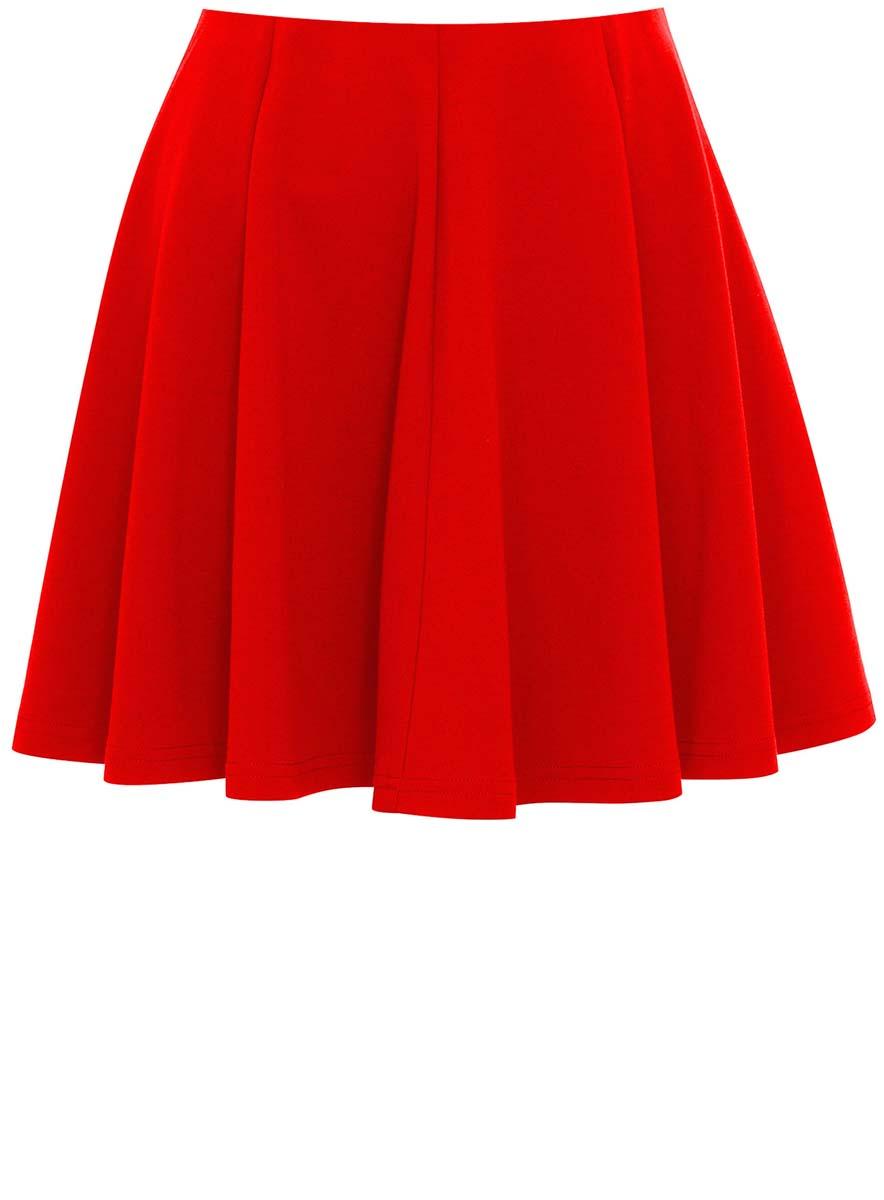 Юбка oodji Ultra, цвет: красный. 14102001B/38261/4500N. Размер M (46) юбка oodji ultra цвет красный белый 14101098b 46155 4510b размер m 46
