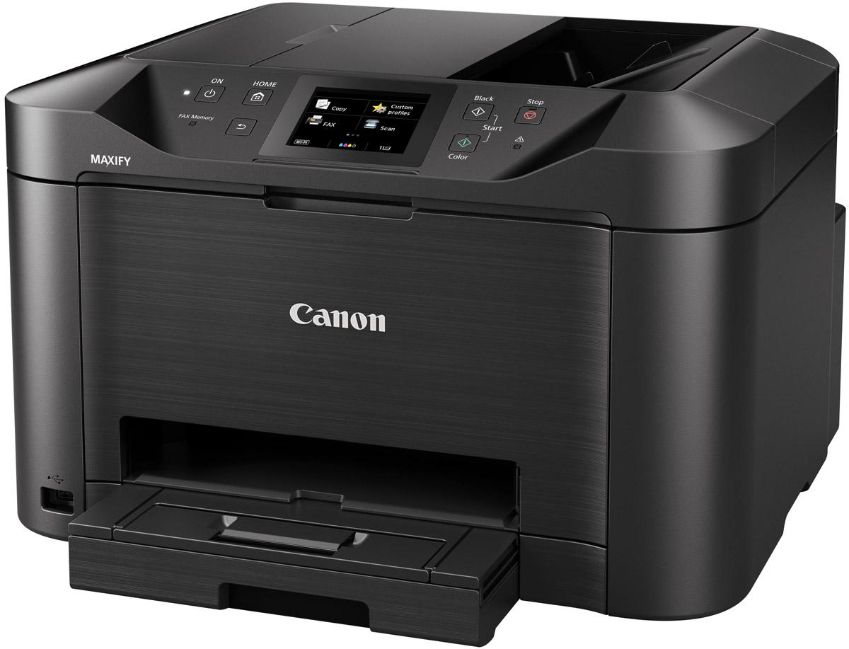 Canon Maxify MB5140 (0960C007) МФУ0960C007Canon Maxify MB5140 - полнофункциональный принтер, сканер, копир и факс, разработанный для небольших офисных пространств, в которых требуется монохромная и цветная печать высокого качества с низкими эксплуатационными расходами. Пигментные чернила DRHD, устойчивые к стиранию и маркерам, позволяют получать насыщенные оттенки черного, яркие цвета и четкий текст. Устройство Canon Maxify MB5140 выполняет печать формата A4 со сверхвысокой скоростью 24 изображения в минуту в монохромном режиме и 15,5 изображений в минуту в цветном режиме, а также выводит первую страницу (FPOT) всего за 6 секунд, тогда как двустороннее сканирование за один проход обеспечивает непревзойденную скорость сканирования.Основной особенностью этого устройства является его экономичность — от низкого потребления энергии всего 0,2 кВт/ч (обычное потребление энергии) до цветных картриджей с возможностью индивидуальной замены. Черные картриджи имеют ресурс 2500 страниц в соответствии со стандартом ISO, а цветные картриджи — 1500 страниц, что обеспечивает долгую непрерывную печать. Дополнительно приобретаемый 4-цветный экономичный набор обеспечивает еще более экономичную печать.Выполнять печать, копирование, сканирование и отправку факсов легко благодаря большому цветному сенсорному TFT-экрану с диагональю 8,8 см (3,5) и улучшенному пользовательскому интерфейсу устройства Canon Maxify MB5140. В дополнение к устройству подачи большой емкости (на 250 листов) и устройству автоматической подачи документов на 50 листов функция двусторонней печати и поддержка принтером различных форматов и типов бумаги — от обычной бумаги формата A4 до этикеток, конвертов, фотобумаги и даже двустороннего копирования удостоверений личности — упрощает выполнение общих заданий офисной печати.Поддержка сервисов Виртуальный принтер Google, Apple AirPrint (iOS), Mopria и приложения Canon PRINT обеспечивает высокую скорость и удобство печати и сканирования с мобильных устройств. Вы можете печ