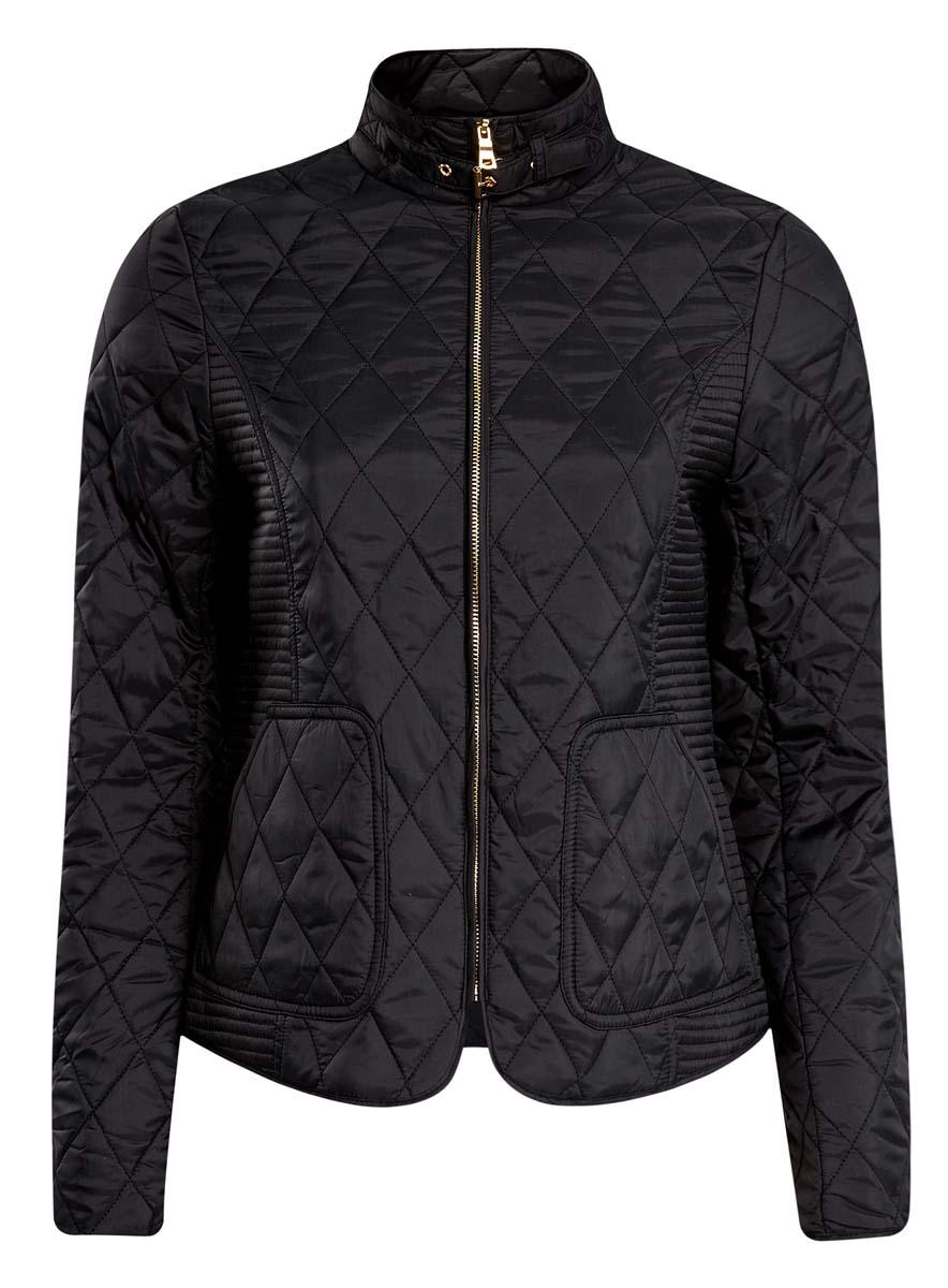 Куртка женская oodji Collection, цвет: черный. 20204038/43396/2900N. Размер 42 (48-170) платье oodji collection цвет черный 73912217 2b 33506 2900n размер l 48