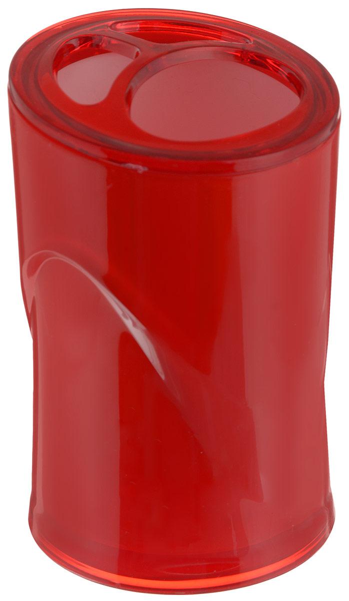 Стакан для зубных щеток Indecor, цвет: красный, высота 11 смIND028rОригинальный стакан для зубных щеток Indecor изготовлен из пластика и отлично подойдет для вашей ванной комнаты. Стильный дизайн изделия притягивает взгляд и прекрасно подойдет к интерьеру в ванной комнаты.Размер стакана: 7 х 7 х 11 см.