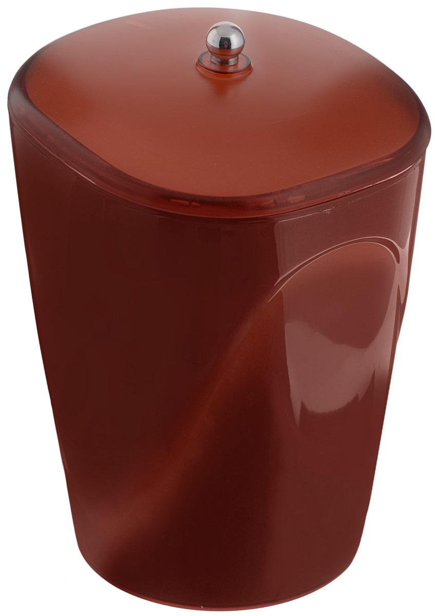 Ведро для мусора Indecor, с крышкой, цвет: коричневый, 5 лIND032cГлянцевое ведро для мусора Indecor, выполненное из высококачественного износостойкого пластика, оснащено крышкой. Ведро подходит для использования в ванной комнате или на кухне. Стильный дизайн и яркая расцветка прекрасно подойдет для любого интерьера ванной комнаты или кухни. Размер ведра: 20 х 20 х 26,5 см.Объем ведра: 5 л.