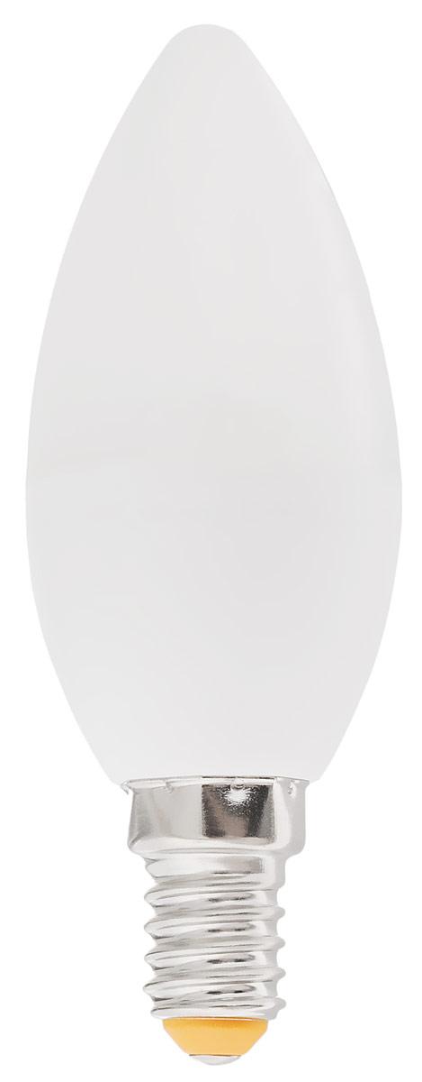 Лампа светодиодная Kosmos, теплый свет, цоколь E14, 5-40W, 220V уличный светильник kosmos koc sol219