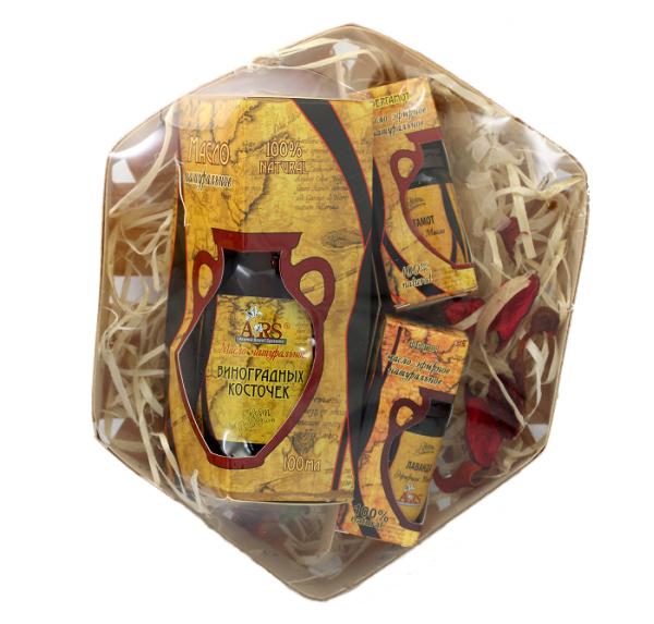 ARS Набор натуральных масел Для жирной кожи лица и телаАрс-122Масло виноградной косточки – глубоко питает, снимает воспаления и нормализует работу сальных железЭфирное масло лаванды - заживляет, снимает воспаления и покраснения, обладает антисептическим эффектомЭфирное масло бергамота – нормализует секрецию сальных и потовых желез, уменьшает воспаления