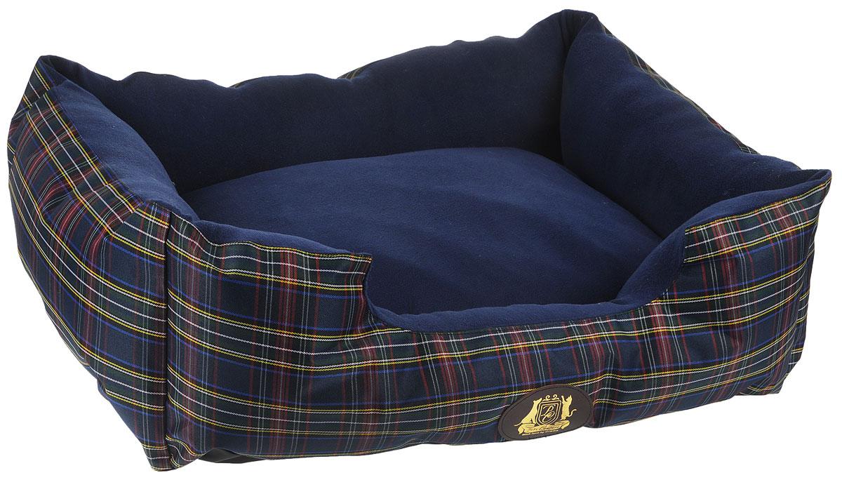 Лежак для животных ЗооМарк Pet's Couture, цвет: синий, желтый, красный, 64 х 49 х 17 см coach черная сумка с логотипом foldover