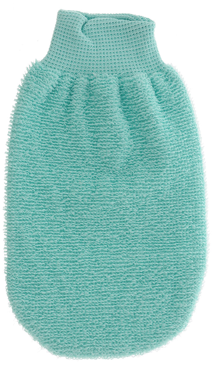 Мочалка-рукавица Riffi, массажная, двухсторонняя, цвет мятный