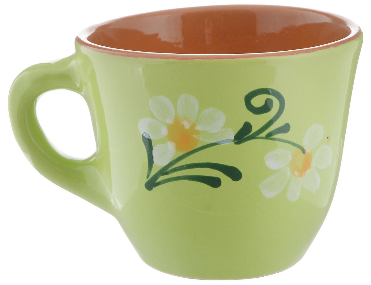 Чашка Борисовская керамика Стандарт, цвет: салатовый, 300 млОБЧ00000628_салатовыйУдобная чашка Борисовская керамика Стандарт предназначена для повседневного использования. Она выполнена из высококачественной керамики. Природные свойства этого материала позволяют долго сохранять температуру напитка, даже, если вы пьете что-то холодное. Внешние стенки чашки оформлены изображением цветка.Диаметр чашки (по верхнему краю): 10 см.Диаметр основания: 5,5 см.Высота чашки: 8,5 см.