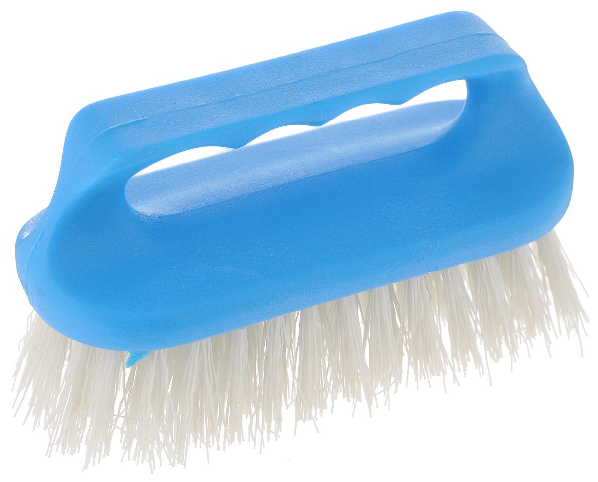 Щетка для одежды Хозяюшка Мила Лилия, цвет: белый, голубой20023_белый, голубойЩетка Хозяюшка Мила Лилия, изготовленная из высокопрочного пластика, предназначена для удаления различных загрязнений с одежды, а также для нанесения пятновыводителя перед стиркой. Щетина средней жесткости не повреждает поверхность. Длина щетины: 3,7 см.