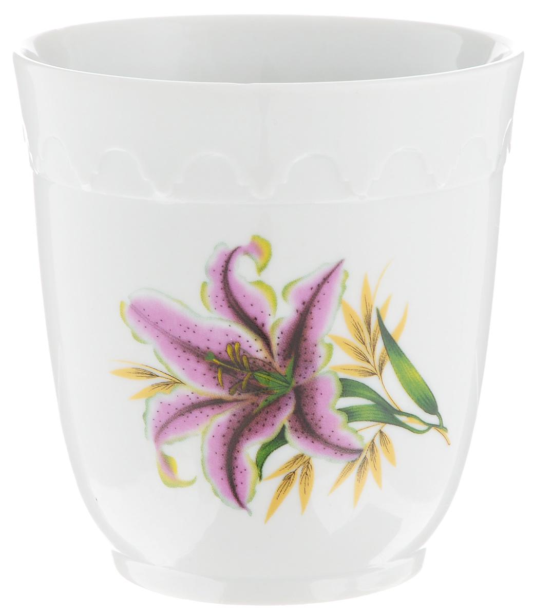 Кружка Фарфор Вербилок Арабеска. Розовая лилия, без ручки, 250 мл14141990Кружка Фарфор Вербилок Арабеска. Розовая лилия способна скрасить любое чаепитие. Изделие выполнено из высококачественного фарфора. Посуда из такого материала позволяет сохранить истинный вкус напитка, а также помогает ему дольше оставаться теплым.Диаметр по верхнему краю: 8 см.Высота кружки: 8,5 см.