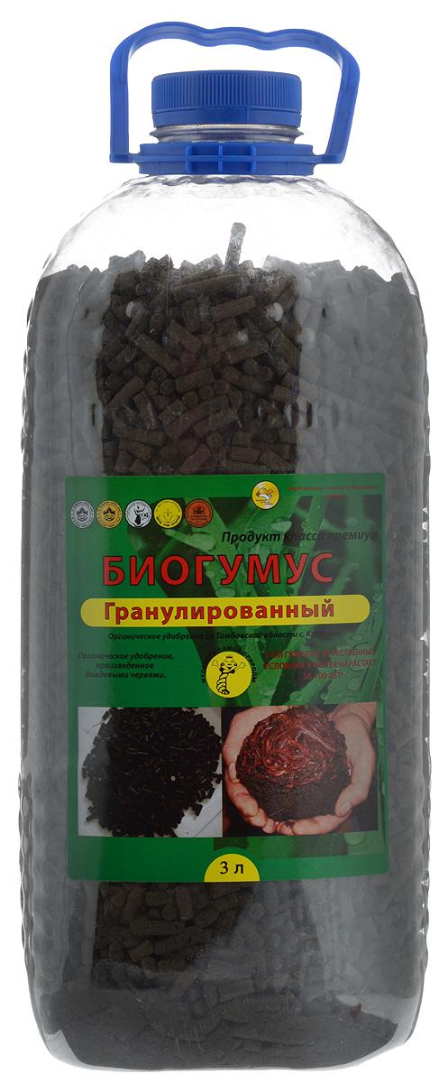 Удобрение Поля Русские Биогумус, гранулированное, 3 л