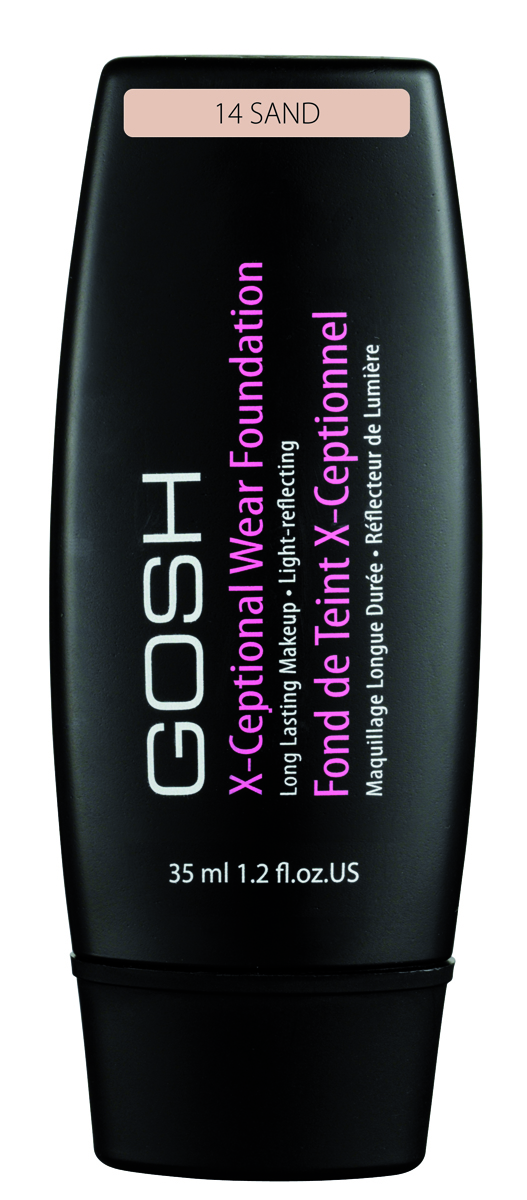 Gosh, Тональный крем для лица X-Ceptional Wear устойчивый, 35 мл, 14549868Мягкий устойчивый тональный крем – это прекрасное средство для защиты Вашей кожи. Специально разработанная формула, содержащая увлажняющие и питательные компоненты, великолепно ухаживает за Вашей кожей в течение всего дня. Придаёт коже бархатистость. Отсутствие эффекта стягивания!