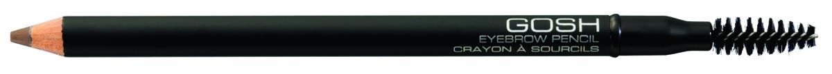 Gosh, Карандаш для бровей Eyebrow Pencil, 1,2 г, 03606748Контур со щеточкой для создания идеальной линии бровей. Карандаш обеспечивает мягкий и естественный оттенок, а также устойчивость в течение дня. Стержень контура увлажнять не рекомендуется, поэтому если Вы хотите получить более насыщенный цвет, слегка смочите брови при помощи ватного диска или палочки.Не содержит парфюмерных отдушек. Легко затачивается при помощи косметической точилки GOSH. Чтобы защитить карандаш от высыхания, обязательно плотно закрывайте его колпачком после каждого использования.ПРЕИМУЩЕСТВА: Создает великолепную форму бровейУстойчивость в течение всего дня Не содержит парфюмерных отдушекС щёточкой-расчёскойВлагоустойчивый