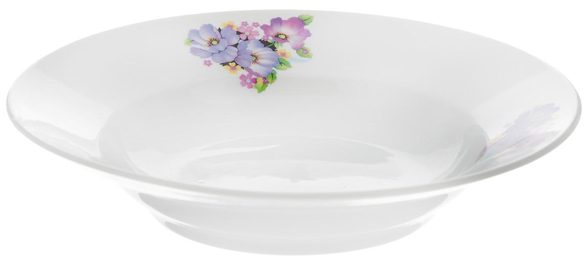 Тарелка глубокая Фарфор Вербилок Фиалка, диаметр 19 см15890210Тарелка Фарфор Вербилок Фиалка, изготовленная из высококачественного фарфора, имеет классическую круглую форму. Она прекрасно впишется в интерьер вашей кухни и станет достойным дополнением к кухонному инвентарю. Идеально подойдет для подачи супов. Тарелка Фарфор Вербилок Тюльпаны подчеркнет прекрасный вкус хозяйки и станет отличным подарком.Диаметр тарелки (по верхнему краю): 19 см.Высота тарелки: 4 см.