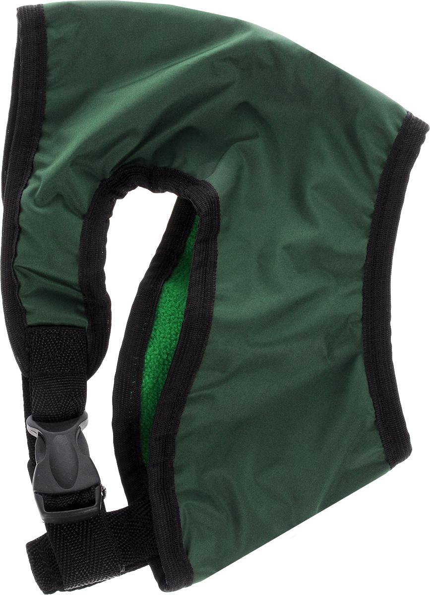 Шлейка для собак ЗооМарк, цвет: зеленый, черный. Размер 2Ш-2_зеленый, черныйШлейка для собак ЗооМарк выполненаиз оксфорда, а на подкладке используется флис. Изделие оснащено специальным крючком, к которому вы с легкостью сможете прикрепить поводок. Шлейка имеет застежку фастекс и регулируется при помощи пряжки.Шлейка - это альтернатива ошейнику. Правильноподобранная шлейка не стесняет движенияпитомца, не натирает кожу, поэтому животноечувствует себя в ней уверенно и комфортно.Изделие отличается высоким качеством,удобством и универсальностью.Обхват груди: 23-28 см. Длина спинки: 16,5 см. Ширина ремней: 2 см.