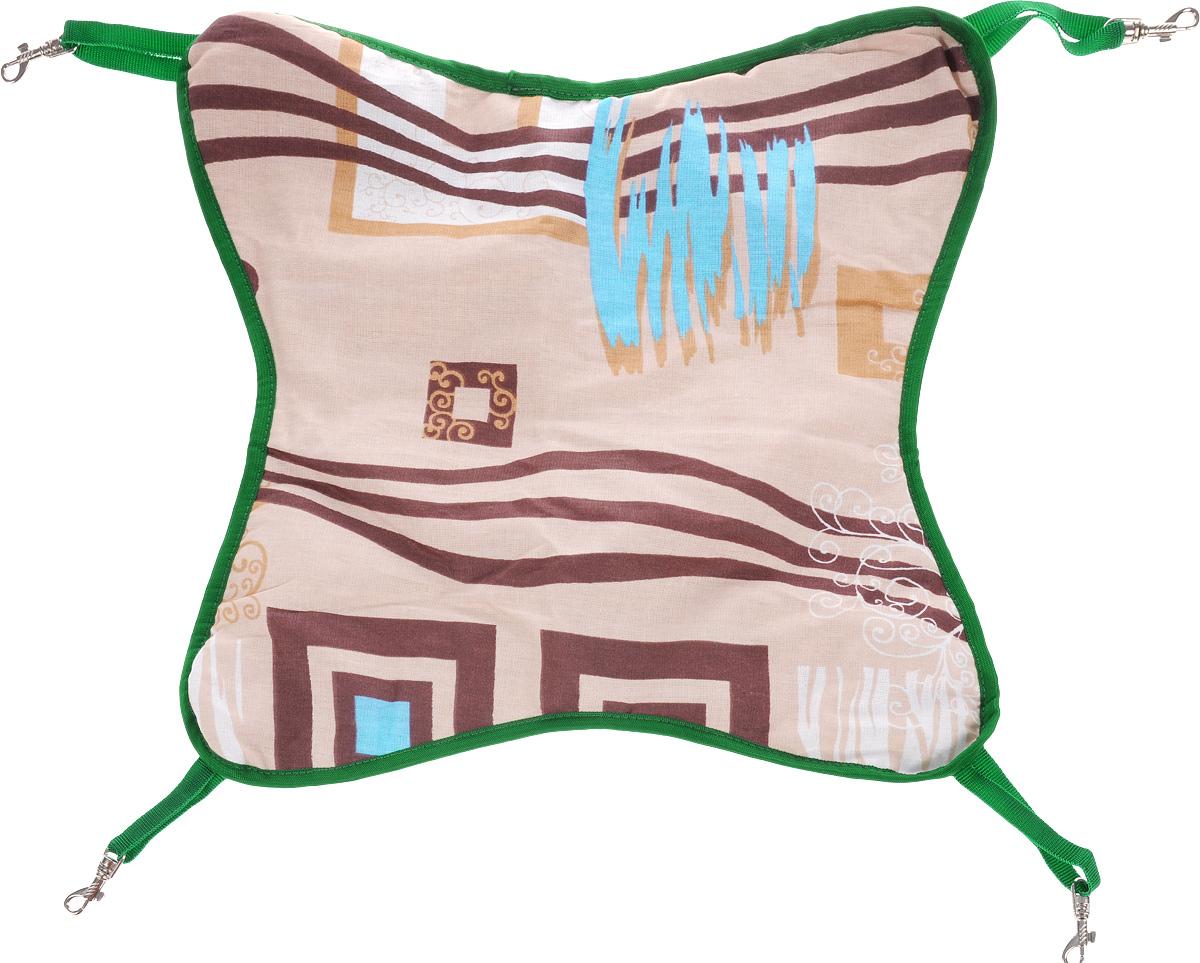 Гамак для шиншилл и хорьков ЗооМарк, подвесной, цвет: бежевый, коричневый, зеленый. Д-11 гамак гамак гамак гамак гамак открытый гамак наружные подвески