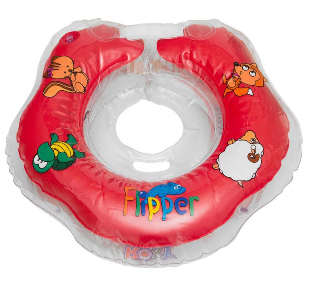 Roxy-kids Круг на шею для купания Flipper цвет красный