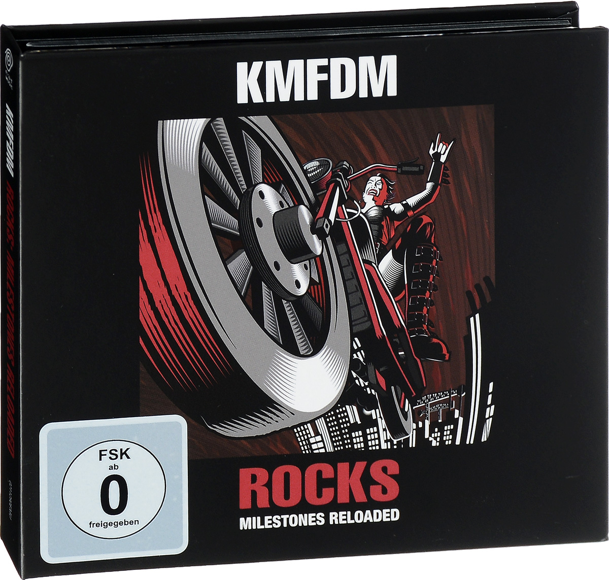 KMFDM KMFDM. Rocks. Milestones Reloaded (CD + DVD) hammerfall rebels with a cause unruly unrestrained uninhibited dvd cd