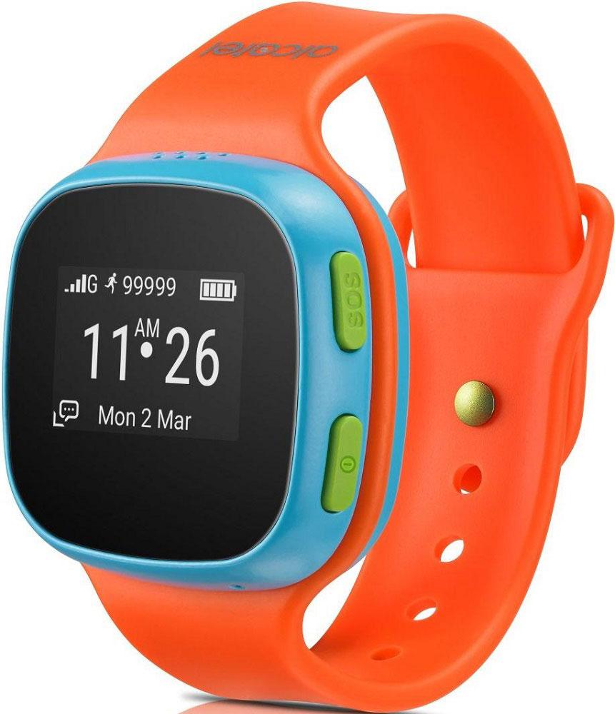 Alcatel SW10 MoveTime, Blue Orange детские часы-телефон4894461383347Alcatel SW10 MoveTime - персональное наручное электронное устройство для для детей возраста от 5 до 9 лет.Данная модель выполнена в пластиковом жестком корпусе. Корпус защищен от пыли и водных струй по классу защиты IP65. Батарея обеспечивает их длительную работоспособность - до 4 дней. Отдельно выведенная кнопка SOS позволит совершить экстренный вызов.Alcatel SW10 MoveTime - помощник в родительском контроле. Родители могут звонить или отправлять голосовые сообщения своим детям. Дети могут совершать звонки на предустановленные SOS-контакты (до 10). Это позволит оградить ребенка от случайных и нежелательных входящих звонков. Общение ребенка через устройство можно ограничить пятью близкими людьми.Через специализированное приложение для смартфона, совместимое с iOS 7 и выше и Android 4.3 и выше, родители могут отслеживать местоположение своих детей и получать уведомления, когда дети приходят в школу или другую предустановленную безопасную зону. Отслеживание местоположения осуществляется специальной облачной службой, использующей GPS, GSM и Wi-Fi сигналы, и происходит как на улице, так и в помещении.Устройство работает только в сетях российских операторов.Защита от пыли/влагиЗарядка с помощью магнитного коннектораСлот для сим-карты