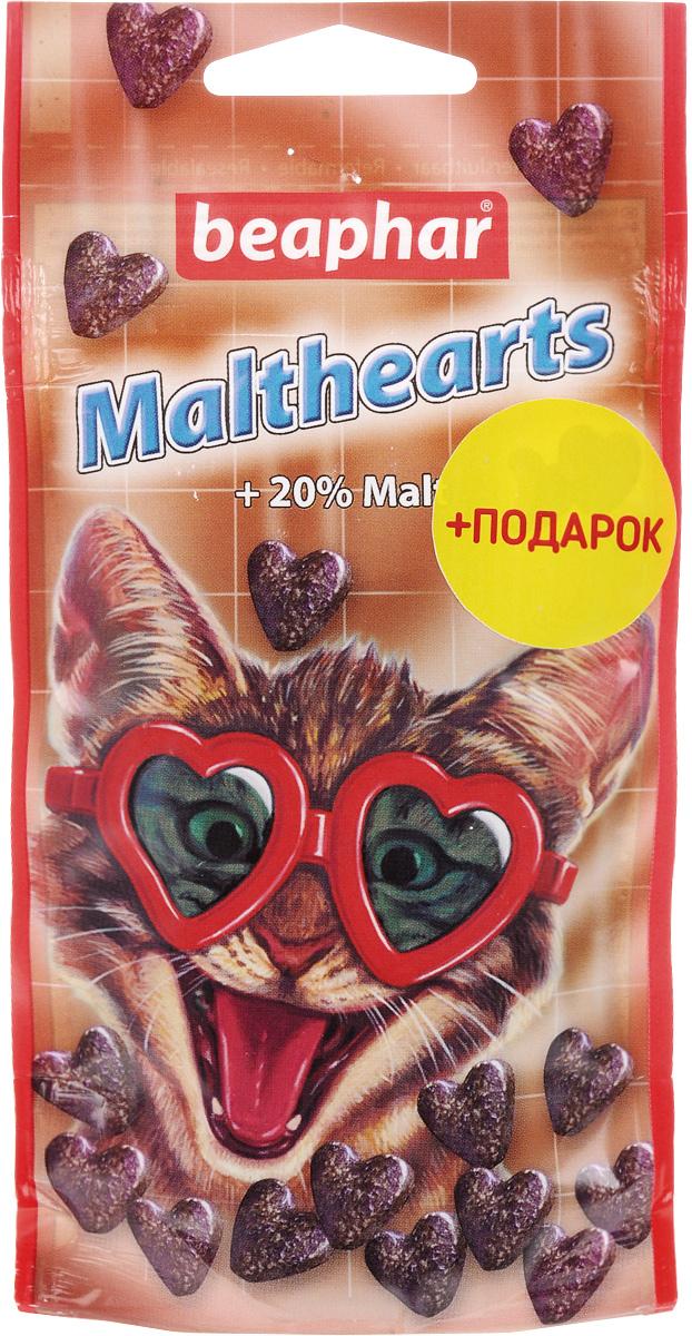 Лакомство для кошек Beaphar Malthearts, для вывода шерсти из желудка, 150 шт + Подарок beaphar beaphar cat snaps витамины для кошек 75 таблеток