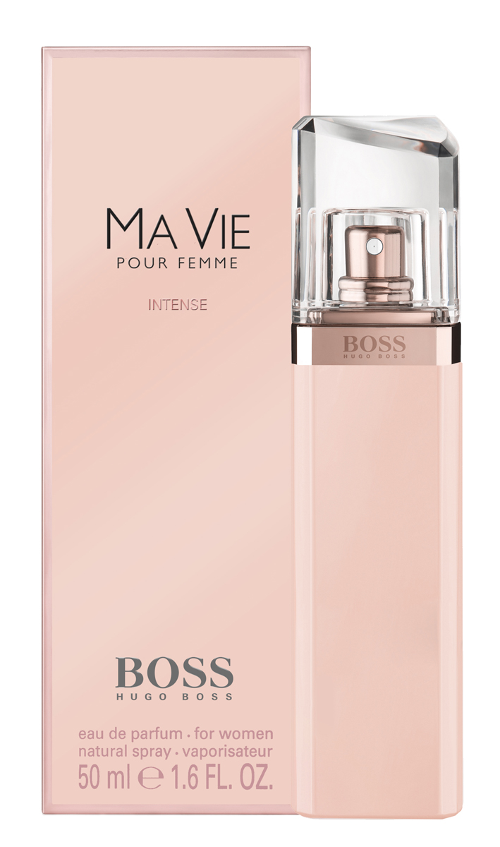 Hugo Boss Ma Vie Intense Парфюмерная вода женская 50 мл0730870171134Изысканный цветочный аромат является продолжением оригинального Boss Ma Vie, изданного в 2014, но более насыщенной, яркой, соблазнительной версией. Главная роль в сексуальном и притягательном букете отведена экзотическому благоуханию кактусового цвета. Его неожиданные, пикантные, сексуальные и свежие аккорды великолепно сочетаются с чувственной нежностью розового бутона и глубокой, интенсивной кедровой базой, создавая виртуозный баланс женственности и силы, независимости и хрупкости, простоты и роскоши. Элегантный и утонченный Boss Intense Ma Vie– прекрасный выбор для солнечного лета или теплой весны.Верхняя нота: Цветок кактуса.Средняя нота: Бутон розы.Шлейф: Кедр.Роза - королева цветов, для благородства и женственности.Дневной и вечерний аромат.